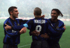 With Vieri and Ronaldo. The Brasilian Ronaldo was extraordinary, he was from another planet ! A mixture of incredibile talent, technique and speed. And he is a very kind and humble man